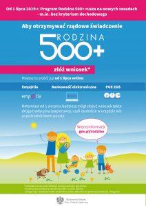 plakat 500+ nowy okres 2019